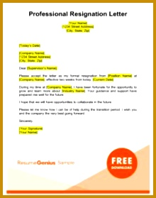 professional two weeks notice resignation letter template 279220