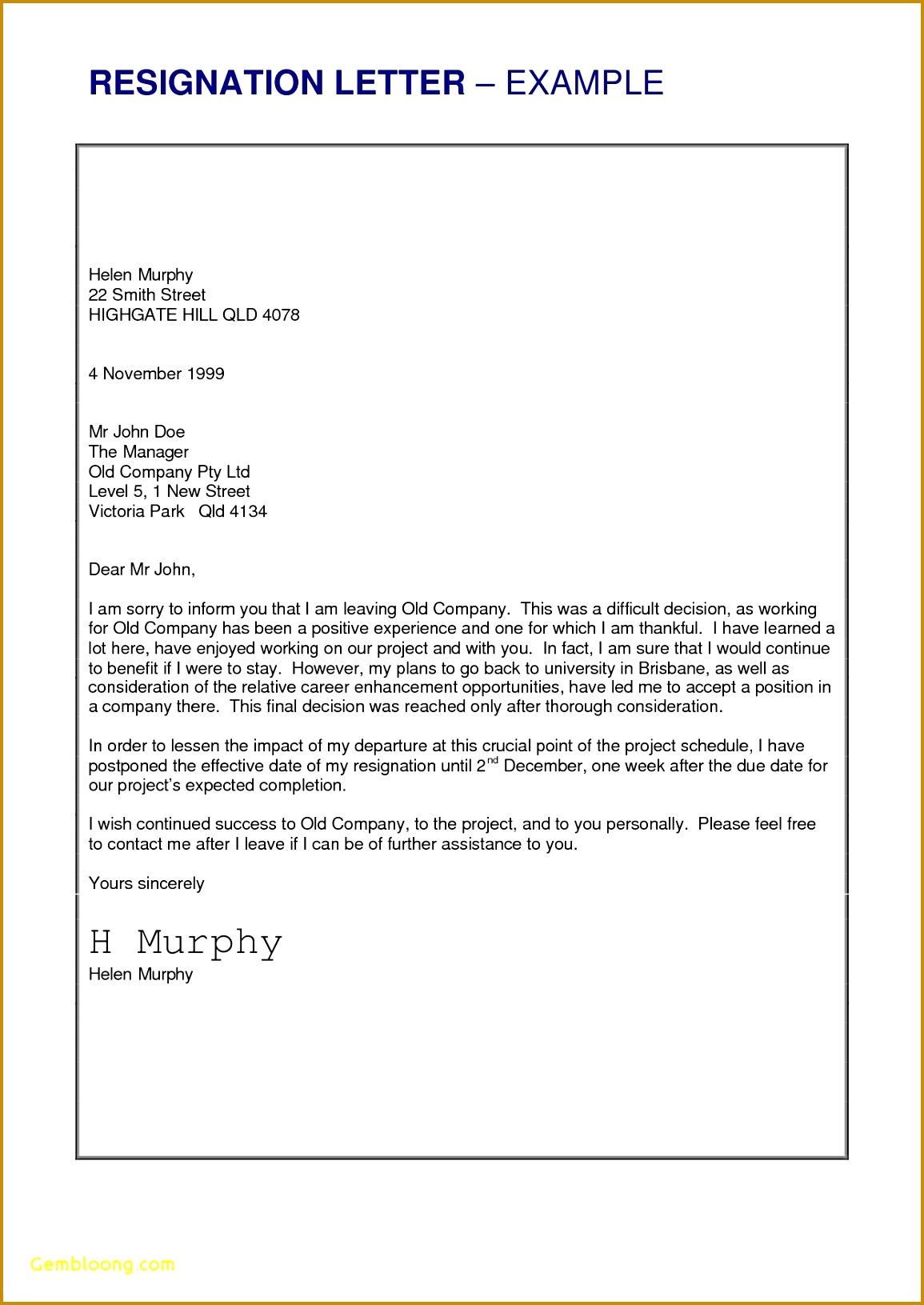 7 resignation letter template 23787