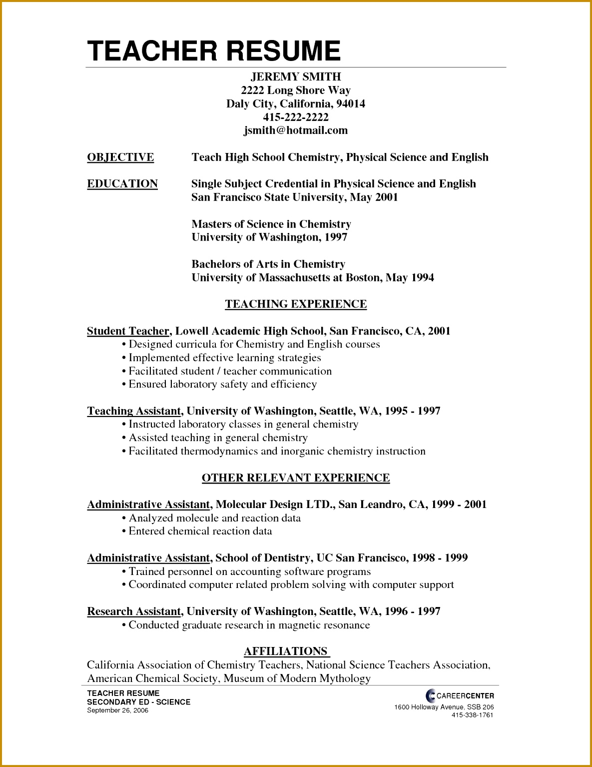 Resume Cover Letter Example New Free Cover Letter Templates Examples Best Od Specialist Sample 15341185