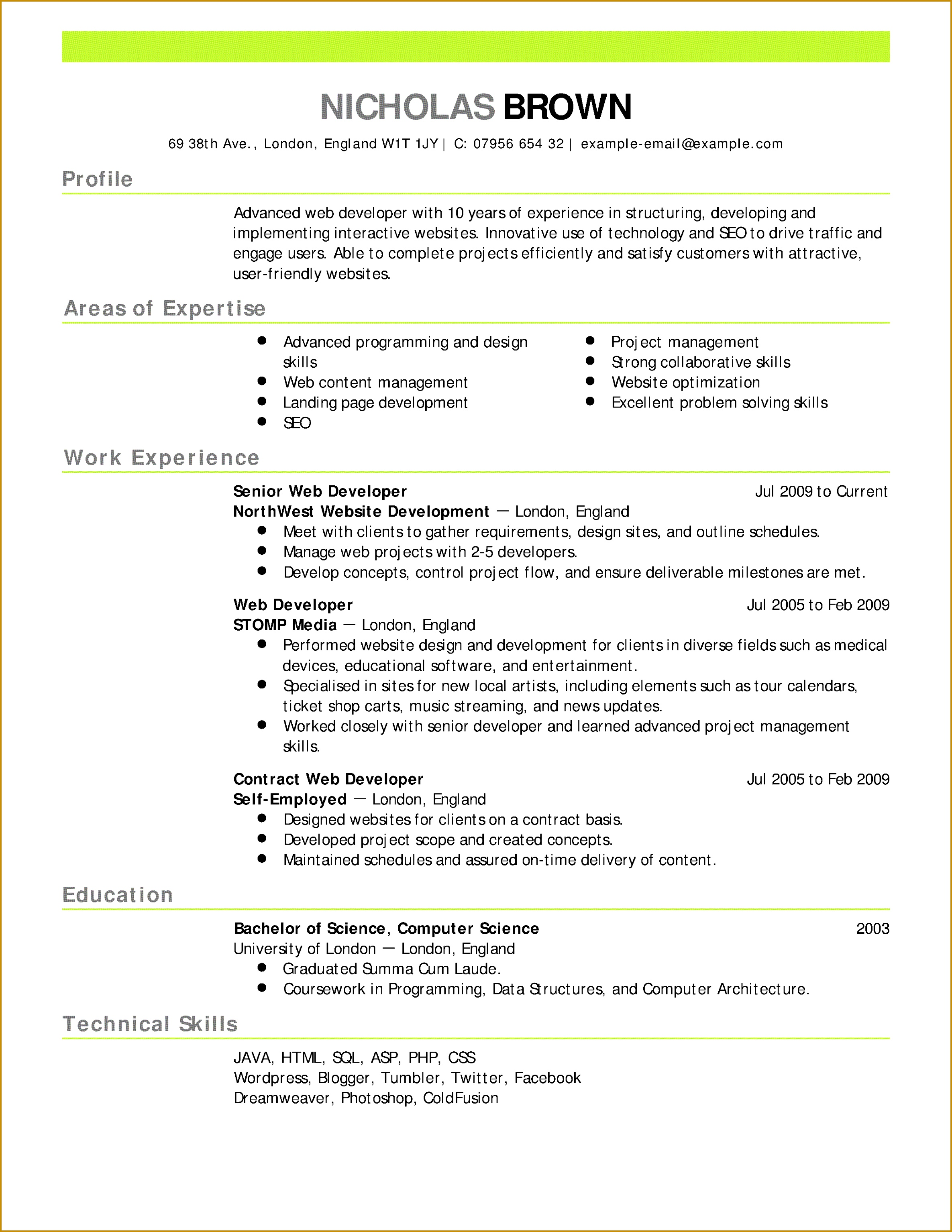 Date Birth format In Resume Unique Professional Job Resume Template Od Specialist Cover Letter Lead 30692371