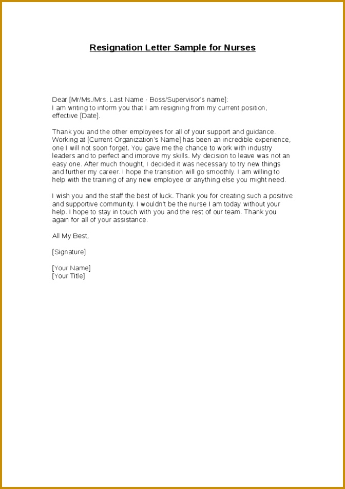 Resignation Letter Sample For New Job Unique Resignation Letter Nursing Resignation Letter Format With Reason 672952