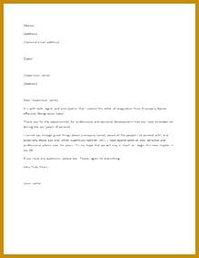 Printable Sample Letter of Resignation Form 283219