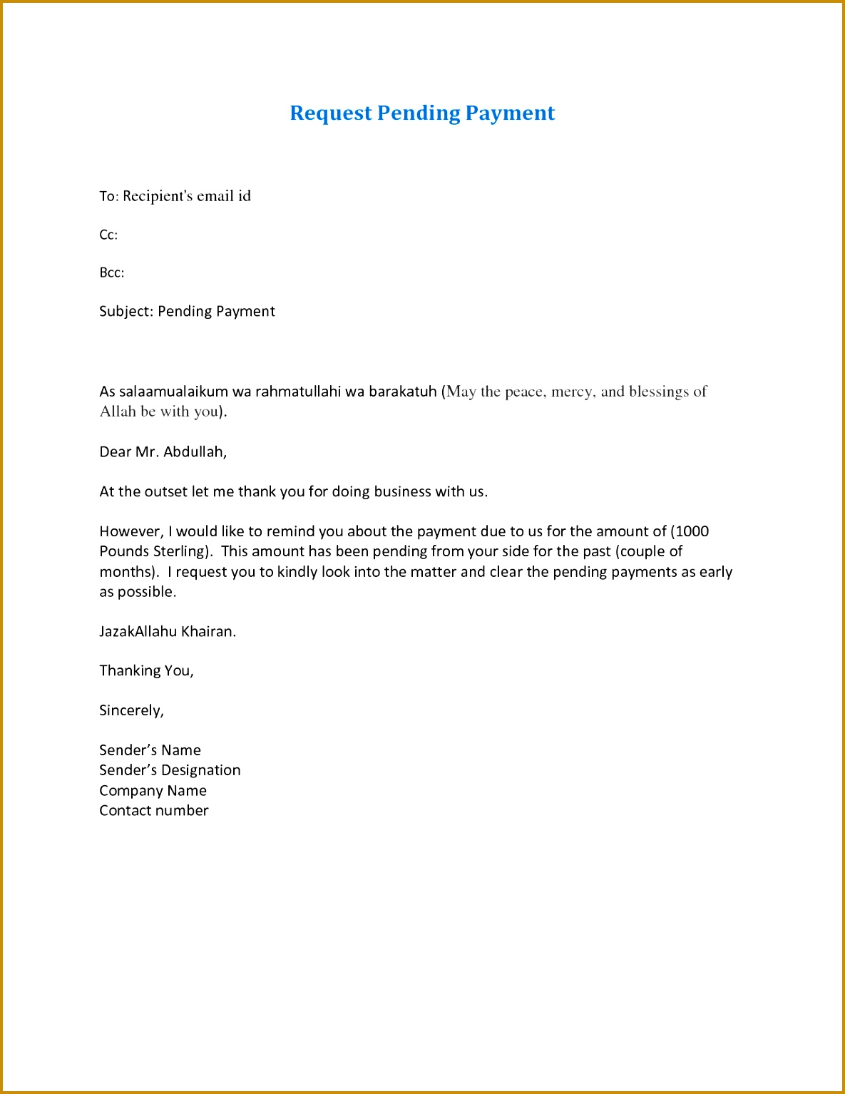 Letter Writing format for Outstanding Payment Best Sample Payment Pending Letter Bbq Grill Recipes 11851534
