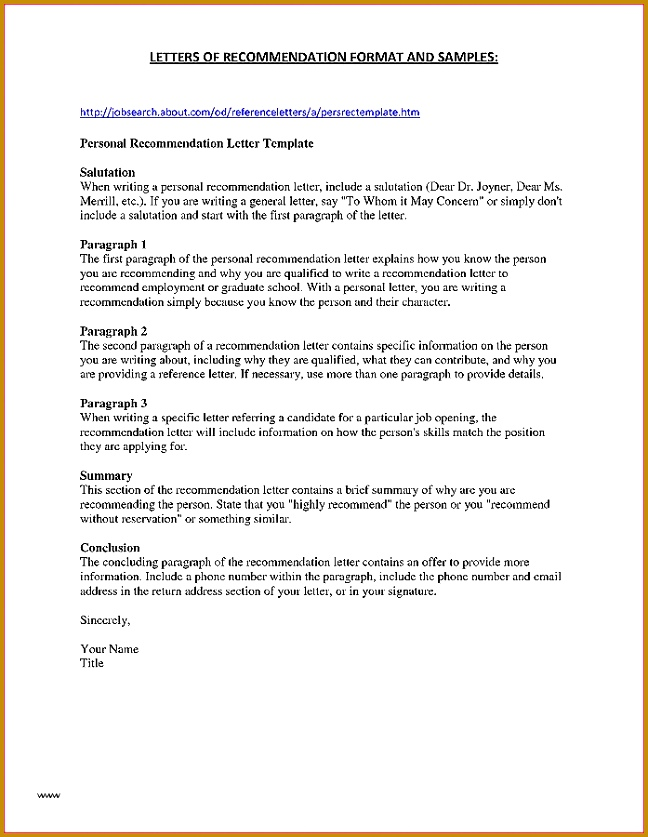 Letter Good Character Template Fresh Letter Re Mendation Beautiful Character Letter 837648