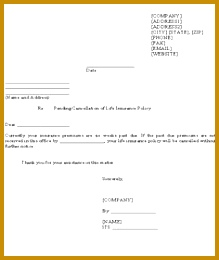 sample letter for pending cancellation life insurance policy how write cancel lease template 260219