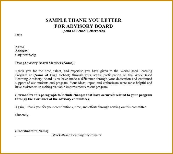 30 Thank you Letter Templates Scholarship Donation Boss 603677