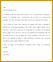 sample thank you letter for scholarship Google Search 219255