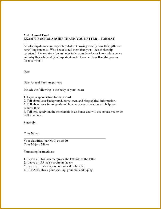 Scholarship Thank You Letter Scholarship Thank You Letter Samples Sample Thank You Note Wording 885684