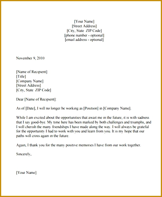 Thank You Resignation Letter Templates 8 Free Word Pdf Format 558678