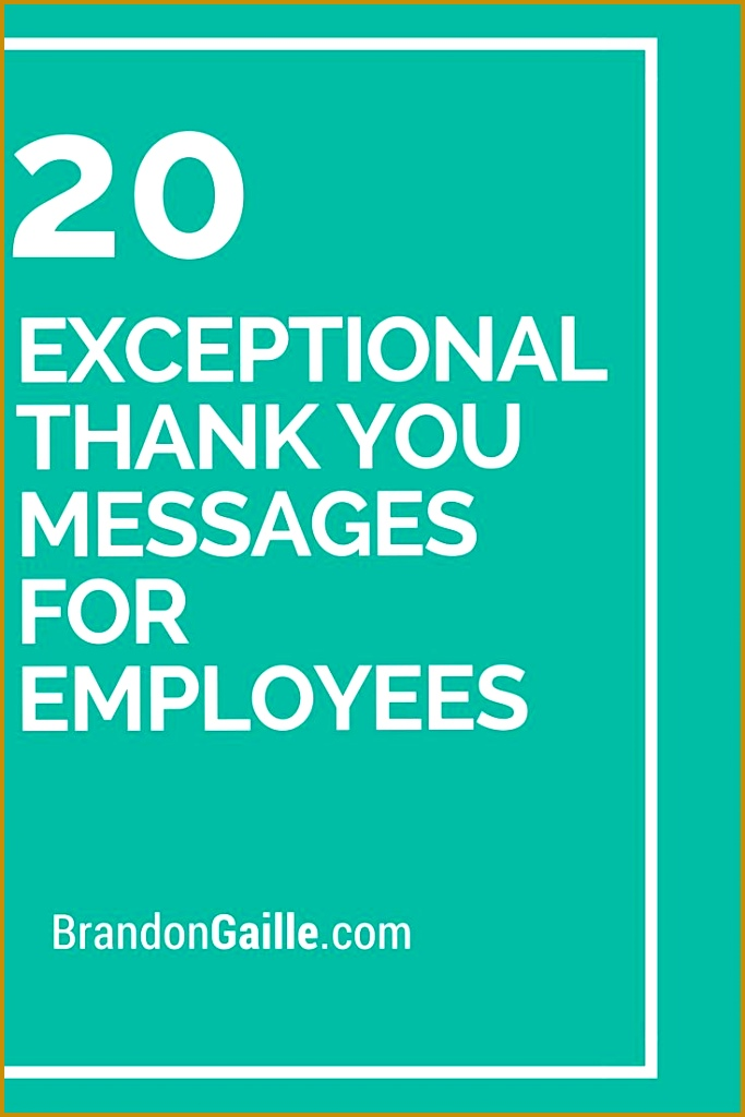 20 Exceptional Thank You Messages for Employees 6831024