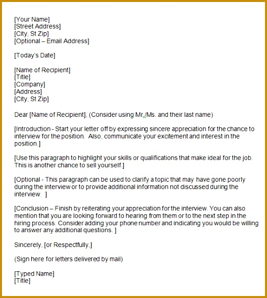 How To Write A Thank You Letter 602539