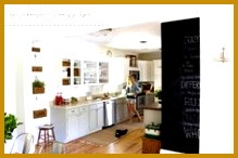 IKEA bookcases cabinets framed to look like custom built ins around a doorway click to see full room makeover by The Lettered Cottage 146219