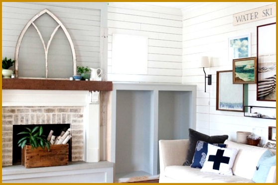 Farmhouse Fireplace And Built Ins The Lettered Cottage 372558