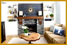 Rustic Modern Contemporary Living Room The Lettered Cottage Blog Fireplace Makeover 146219