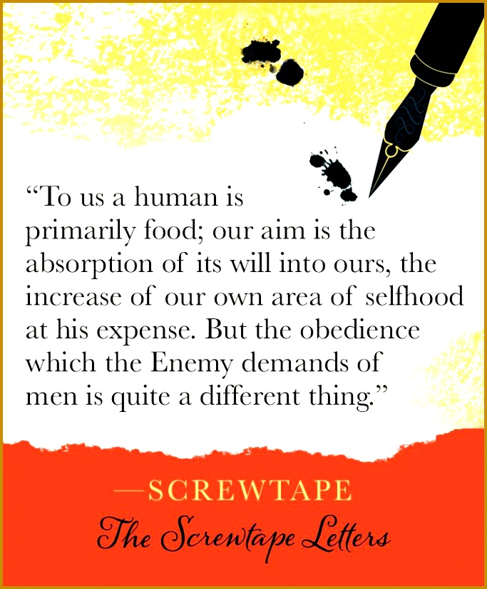 Screwtape on obe nce in The Screwtape Letters by C S Lewis 825683