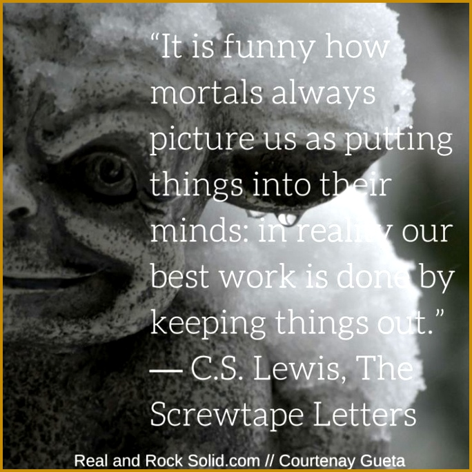 CS Lewis Screwtape Letters From the perspective of a demon to let Christians realize that they want Christians to be asleep to not be awake 684684