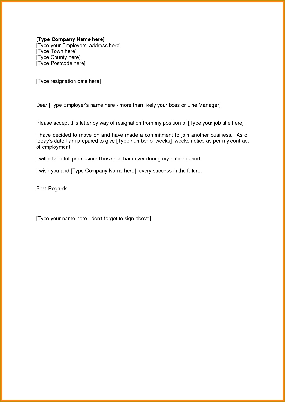 Sample Resignation Letter 2 Weeks Notice 4 Sample Resignation Letter 2 Weeks Notice Pdf 16491171