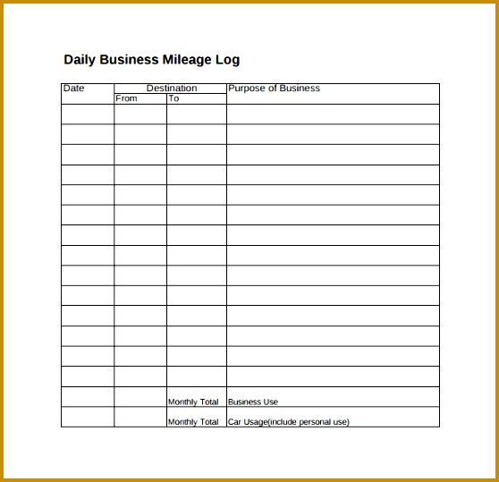 Mileage Spreadsheet Template Unique Expense Log Template Free Expense Report Template Expense Report 539558