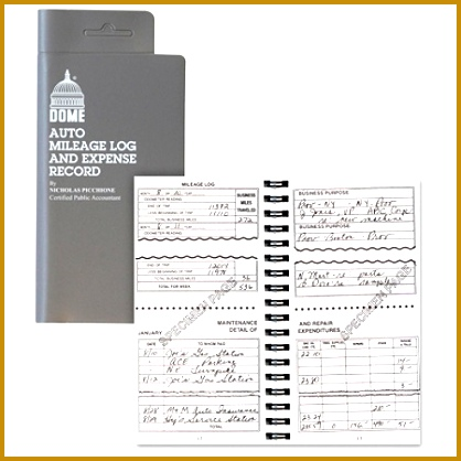 Dome Auto Mileage Log And Expense Record 3 12 x 6 12 Gray by fice Depot & ficeMax 418418