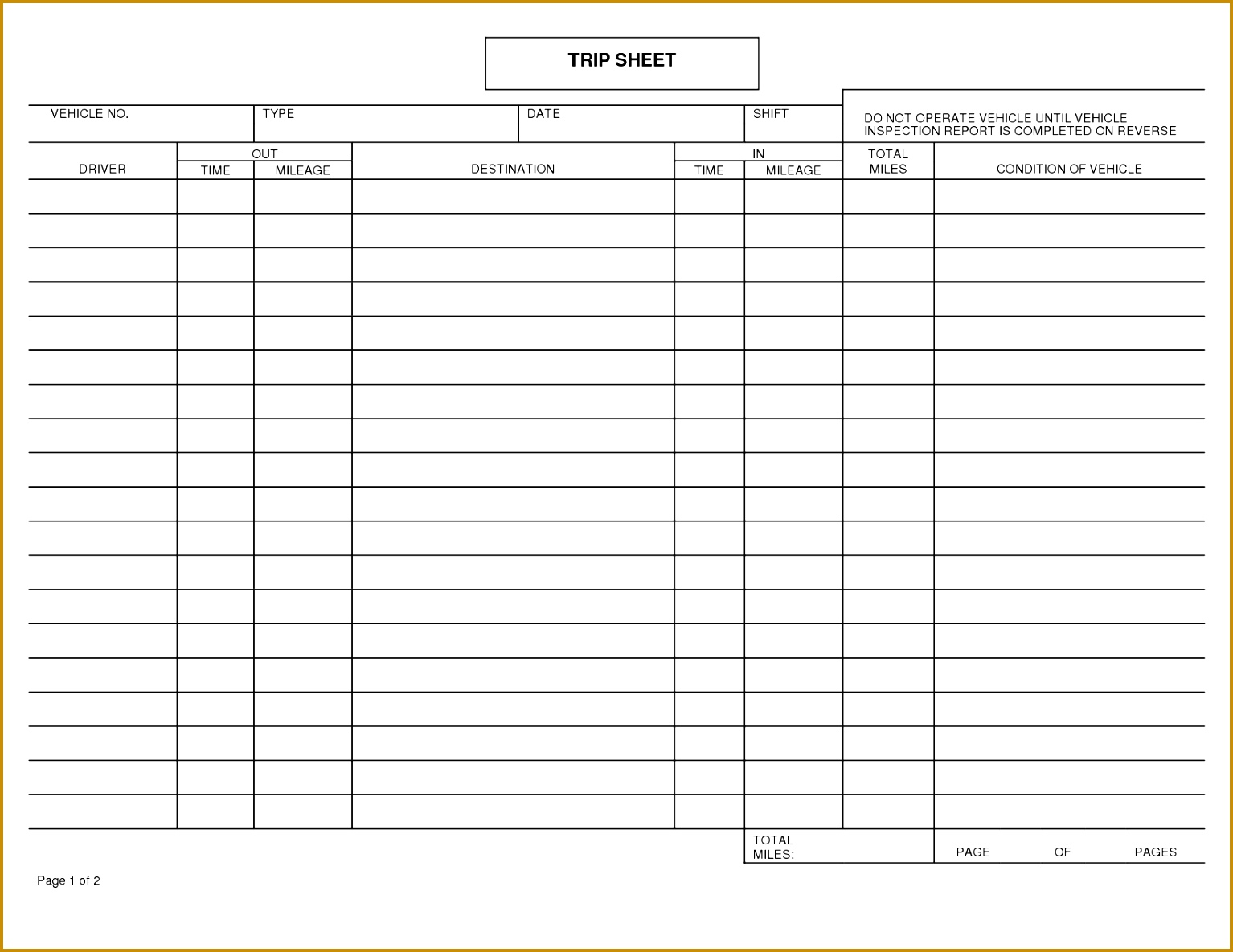 Driver Log Book Template Inspirational 29 Driver Delivery Sheet Template 15341185