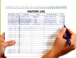 Visitor Log Book Template 24555 Enchanting Signing In Book Template Collection Professional Resume