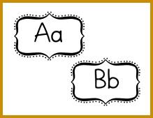 Word Wall Letters in Bracket 169219