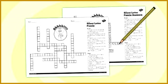 Spell Words with Silent Letters Y5 6 Crossword 585292