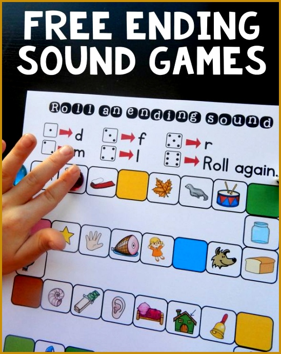 Try these free ending sound games to help kids hear ending sounds in words 690548