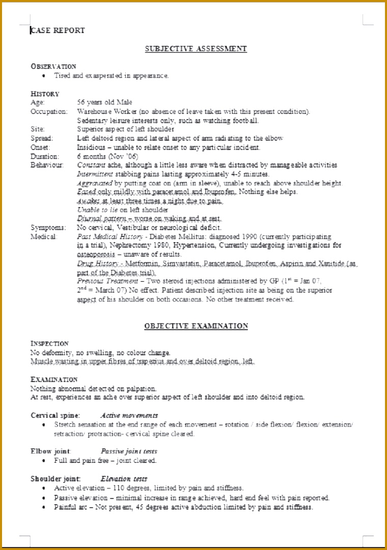 Yearly Physical Examination Form Template 1078760