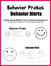 Bad Behavior Alert and Positive Behavior Praise Form Checklist for Parents Also includes fill in the blank Student Apology Letter