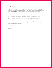 Professional Apology Letter Sample apology letter is used in every professional and personal life