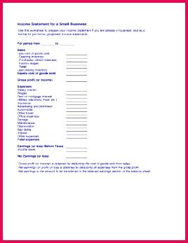 3 blank income statement form 04259 fabtemplatez