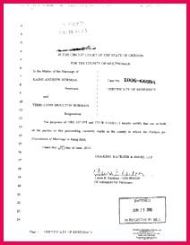 Printable Sample Divorce Documents Form