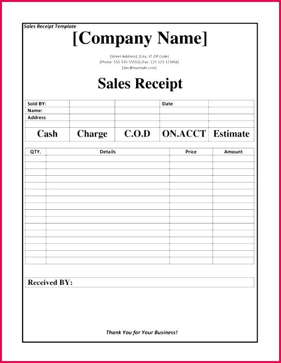 e receipts template