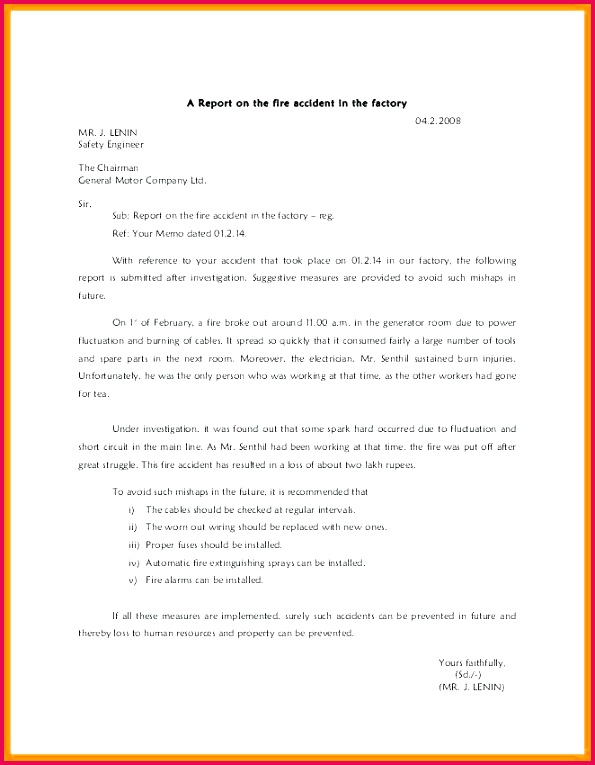 security report writing template 4 5 how to write a report on an incident security report