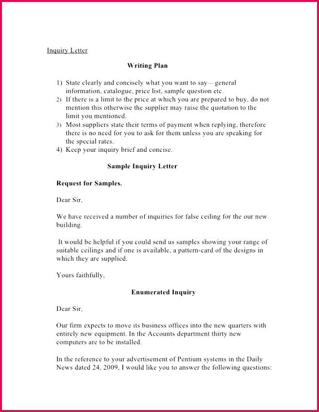 Letter Guarantee Template Elegant Inquiry Letter 1 728 Cb= Letter Guarantee Template