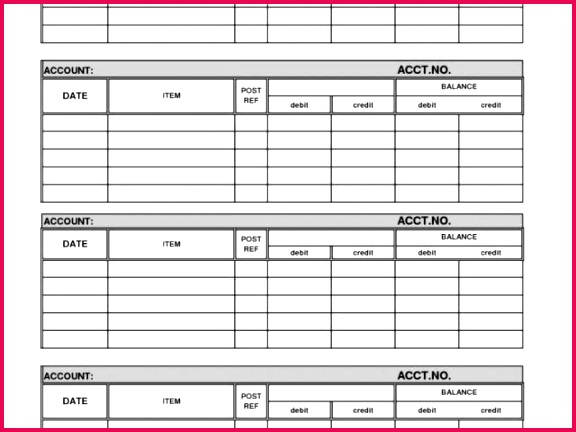 Property Expenses Spreadsheet and General Ledger Template Printable