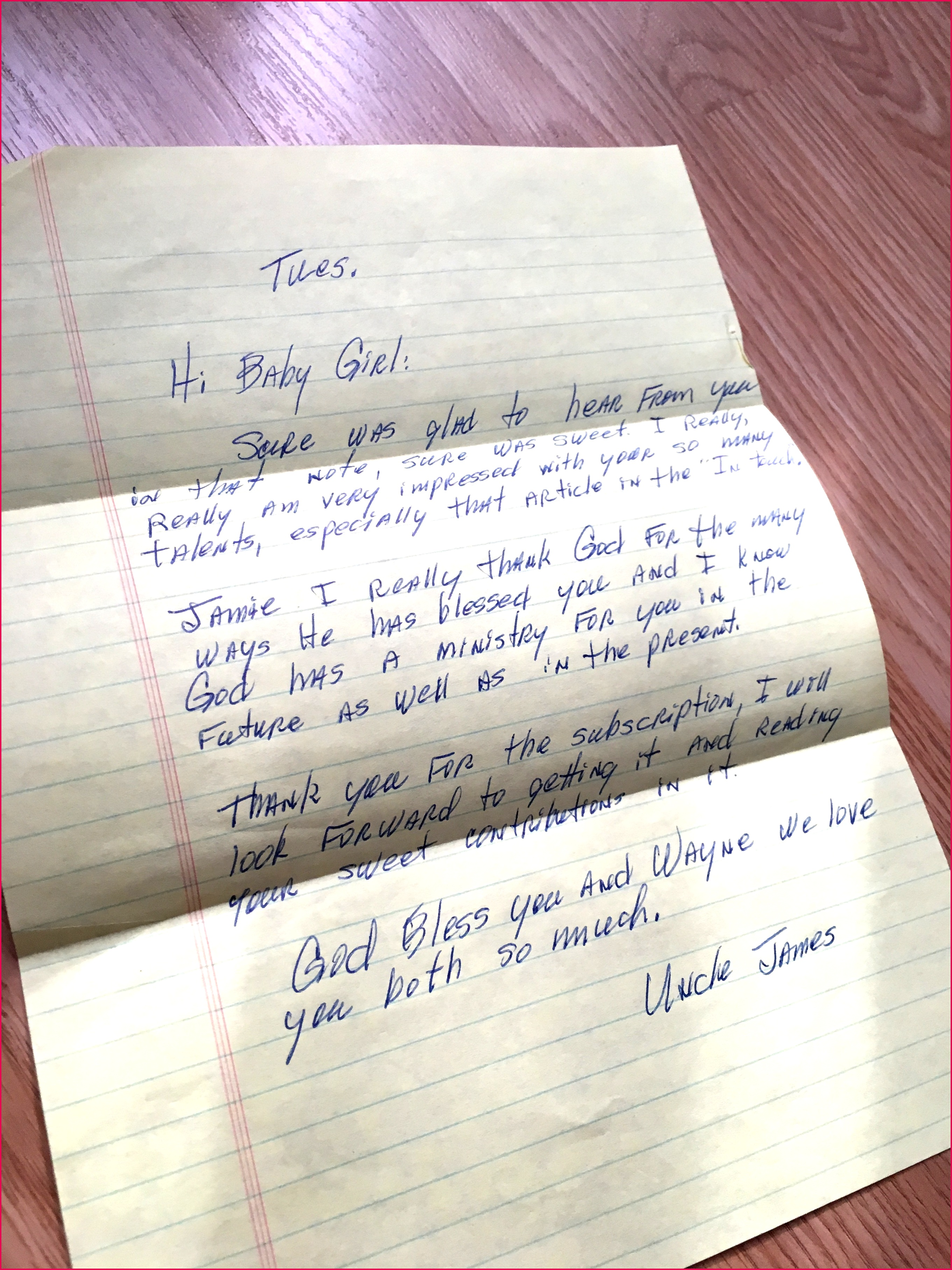 A letter from my paternal grandmother Betty Lou Hill given to me just weeks before she d