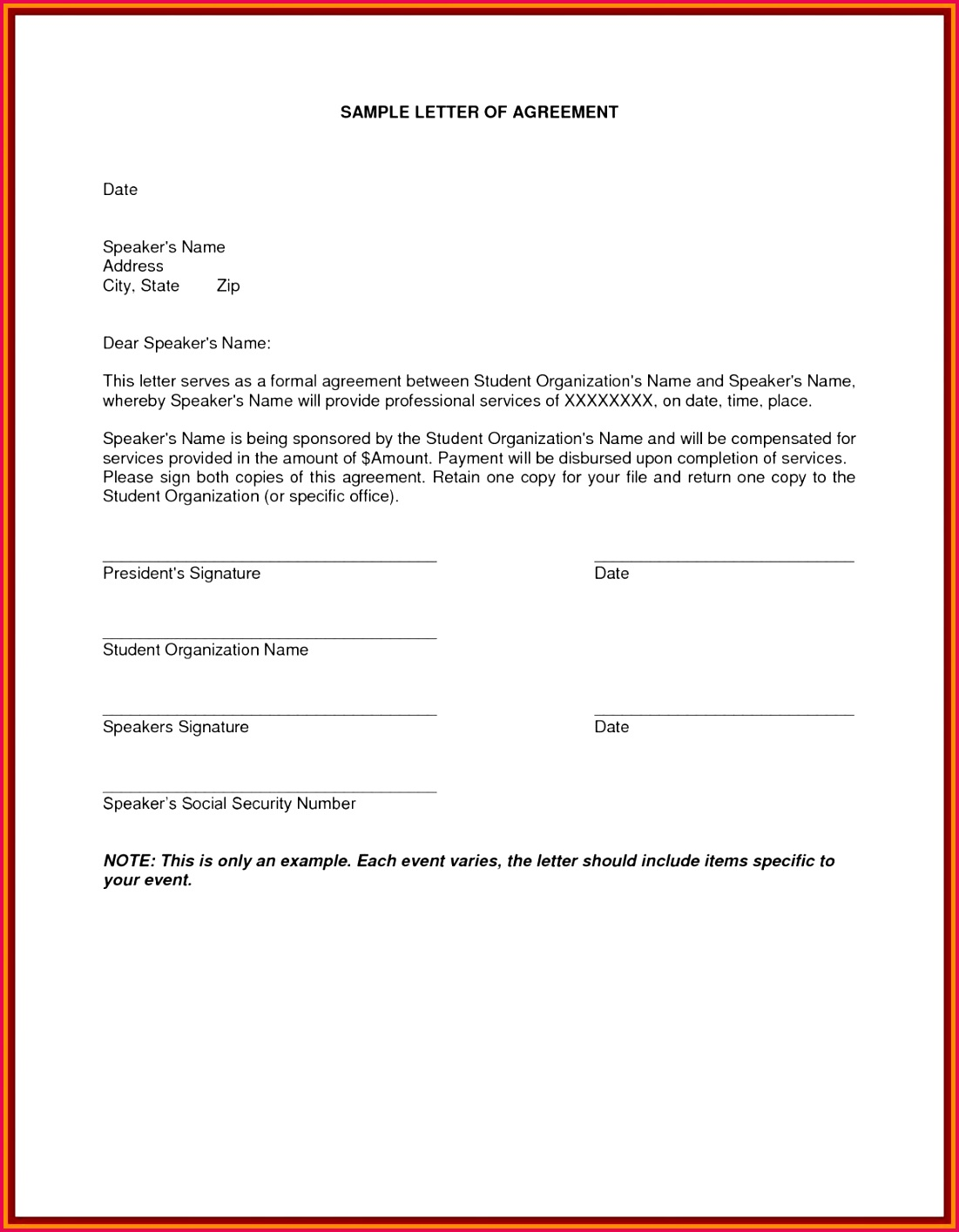 Loan Agreement Letter format Awesome Agreement Letter New Bet Contract Template Elegant Money Lending