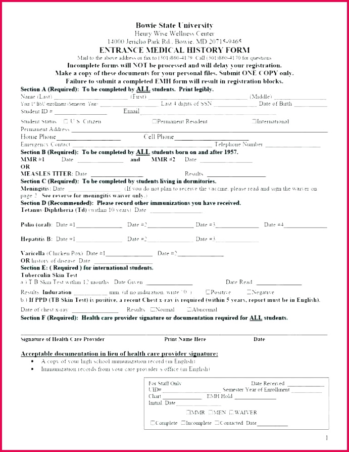 free personal medical history template form dental patient definition biology health record records release of forms