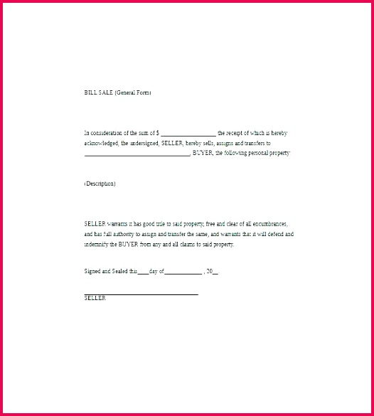 bill of sale word template horse document doc for car printable blank 9 free documents new