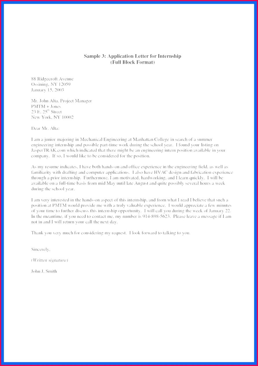 New Cover Letter Ideas Beautiful Cover Letter Examples for Internship Beautiful Job Letter 0d Download