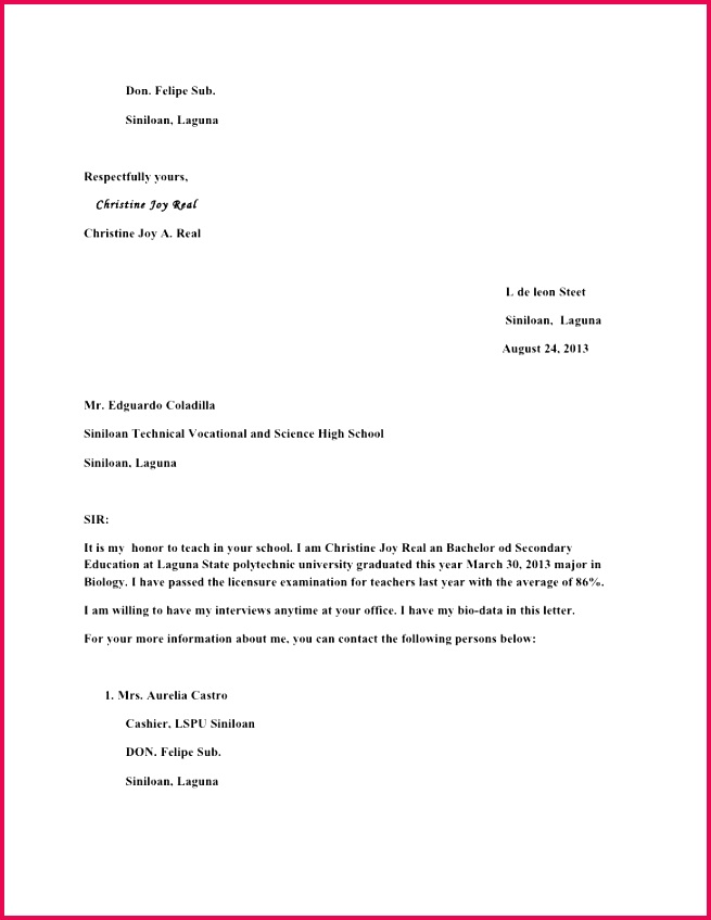 brilliant ideas of application letter for teaching job secondary school cover on biology teacher cover letter sample of biology teacher cover letter sample