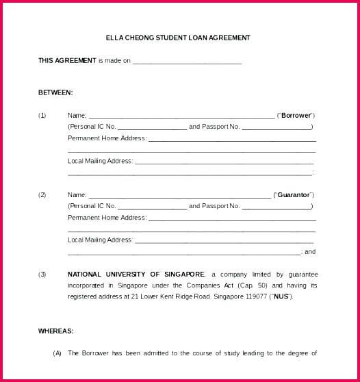 Car Loan Agreement Template Pdf Elegant Personal Loan Template – Equityand