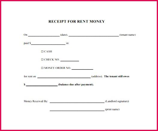 rent recipt template