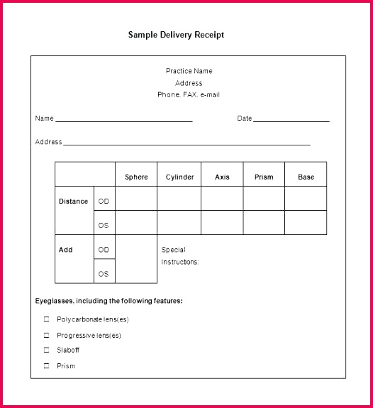 Rent Receipt Template Word Free Model Letter Mendation Templates Word Lovely Delivery Receipt form 2018