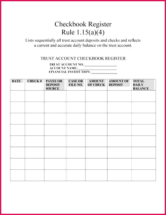 free printable check register sheets