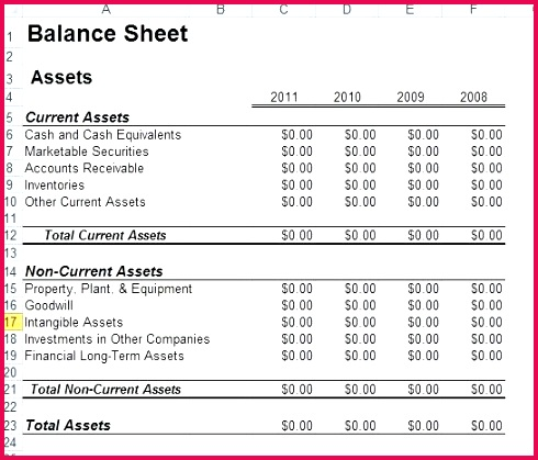 sample of balance sheet and in e statement in excel example examples ppt example of balance sheet