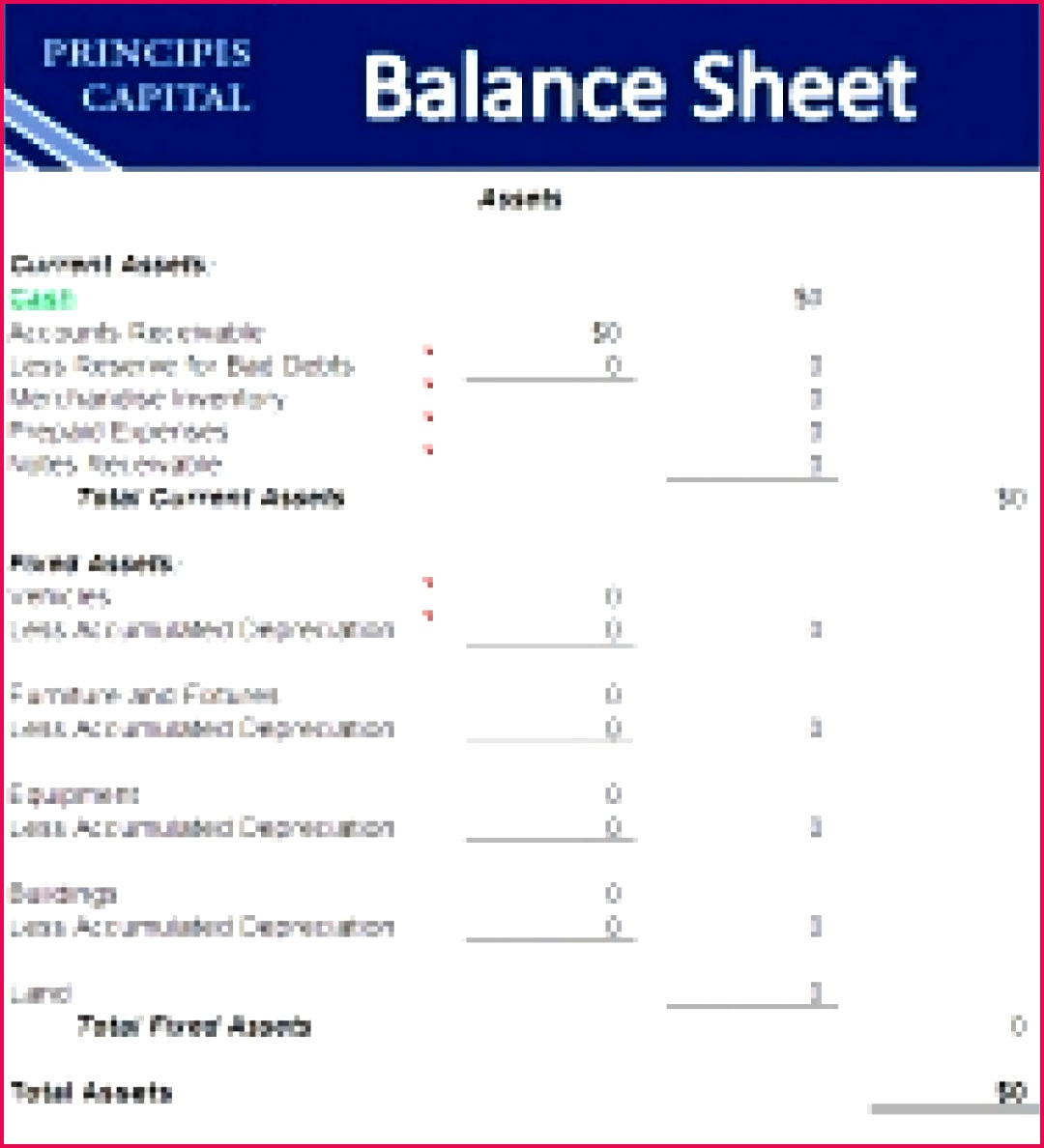 Sample balance sheet for small business in e statement template example stateme flexible accordingly monthly excel startup