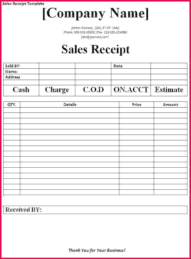 Accounting Receipt Template Best Business Receipts Templates Religionlynks